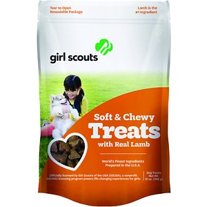 Girl Scout Pet Treats Real Lamb Dog Soft & Chewy Treats, 12-oz pouch