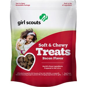 Girl Scout Pet Treats Bacon Flavor Soft & Chewy Dog Treats, 5-oz pouch