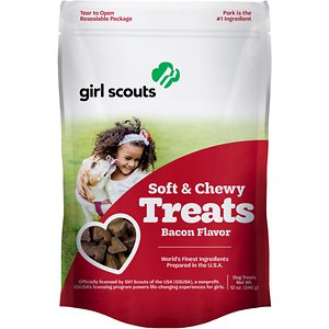 Girl Scout Pet Treats Bacon Flavor Soft & Chewy Dog Treats, 12-oz pouch