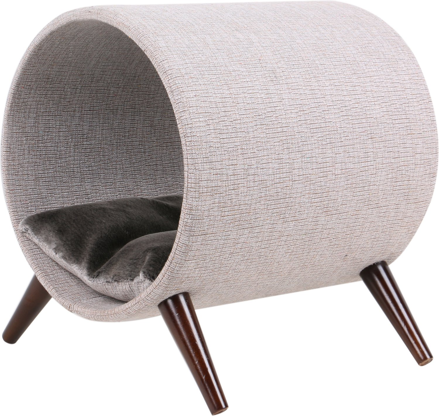 Cat Craft 15 In Tunnel Wooden Legs Elevated Cat Bed Grey Chewy Com