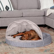 FurHaven Wave Fur & Velvet Memory Foam Snuggery Dog & Cat Bed