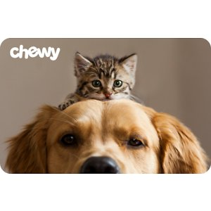 Chewy eGift Cards, Pets Bring Us Together, $150