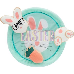 Frisco Easter Plate with Cookies Dog Toy, 4-count