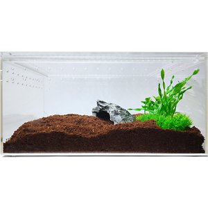 HerpCult Acrylic Insect & Reptile Terrarium, Clear Top, Large
