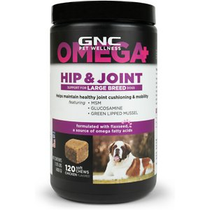 GNC Pets Hip & Joint Large Breed Dog Supplement, 120 count