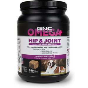 GNC Pets Hip & Joint Large Breed Dog Supplement, 240 count
