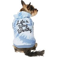 Cold Weather Clothes COUTUDI Dog Sweaters for Small Dogs Dog Winter Coat Dog Hoodie for Small Dogs Soft and Warm Dog Hoodie Sweater with Leash Hole and Pocket
