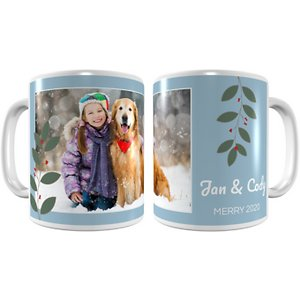 Frisco Personalized Berry Garland Coffee Mug
