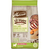 Merrick Lil' Plates Healthy Grains Real Lamb + Brown Rice Recipe Small Breed Adult Dry Dog Food, 12-lb bag