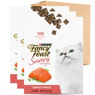 Fancy Feast Savory Cravings Limited Ingredient Salmon Flavor Cat Treats, 3-oz box, case of 3