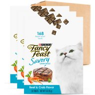 Fancy Feast Savory Cravings Limited Ingredient Beef & Crab Flavor Cat Treats, 3-oz box, case of 3
