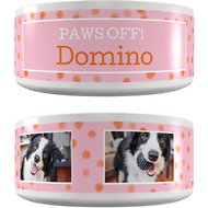 "Frisco Personalized ""Paws Off"" Ceramic Dog Bowl, 4.8-cup"