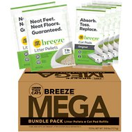 Tidy Cats Mega BREEZE Refill Litter Pellets & Cat Pads Multi Cat Litter, 15.8-lb box
