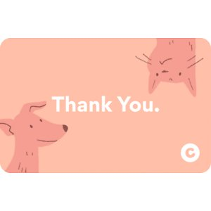 Chewy eGift Card, Thank You Pet Pals, $75
