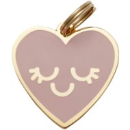 Two Tails Pet Company Smiling Heart Pet ID Tag, Pink