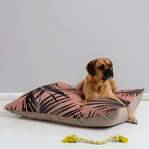 Deny Designs Pillow Cat & Dog Bed w/ Removable Cover, Black Palm Leaves; Your furry friend can enjoy a paw-fect nap and catch some essential zzz's on a Deny Designs Pillow Cat & Dog Bed. Ideal for any beloved critter—including cats, dogs and even pigs—who needs a comfy spot, this bed is equipped with cozy fleece and a removable cover for easy cleaning. Better yet, it's crafted to be stylish! This artist-designed, USA-made pet bed will add a creative, cozy touch to your home.