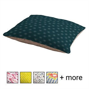 Deny Designs Pillow Cat & Dog Bed w/ Removable Cover, Eyes on Dark Teal; Your furry friend can enjoy a paw-fect nap and catch some essential zzz's on a Deny Designs Pillow Cat & Dog Bed. Ideal for any beloved critter—including cats, dogs and even pigs—who needs a comfy spot, this bed is equipped with cozy fleece and a removable cover for easy cleaning. Better yet, it's crafted to be stylish! This artist-designed, USA-made pet bed will add a creative, cozy touch to your home.