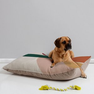 Deny Designs Pillow Cat & Dog Bed w/ Removable Cover, Abstract Geometric; Your furry friend can enjoy a paw-fect nap and catch some essential zzz's on a Deny Designs Pillow Cat & Dog Bed. Ideal for any beloved critter—including cats, dogs and even pigs—who needs a comfy spot, this bed is equipped with cozy fleece and a removable cover for easy cleaning. Better yet, it's crafted to be stylish! This artist-designed, USA-made pet bed will add a creative, cozy touch to your home.
