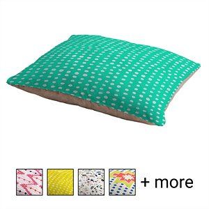 Deny Designs Pillow Cat & Dog Bed w/ Removable Cover, Turquoise Scribble Dots; Your furry friend can enjoy a paw-fect nap and catch some essential zzz's on a Deny Designs Pillow Cat & Dog Bed. Ideal for any beloved critter—including cats, dogs and even pigs—who needs a comfy spot, this bed is equipped with cozy fleece and a removable cover for easy cleaning. Better yet, it's crafted to be stylish! This artist-designed, USA-made pet bed will add a creative, cozy touch to your home.
