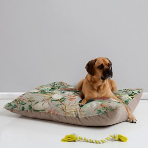 Deny Designs Pillow Cat & Dog Bed w/ Removable Cover, Bohem Tropical Bloom; Your furry friend can enjoy a paw-fect nap and catch some essential zzz's on a Deny Designs Pillow Cat & Dog Bed. Ideal for any beloved critter—including cats, dogs and even pigs—who needs a comfy spot, this bed is equipped with cozy fleece and a removable cover for easy cleaning. Better yet, it's crafted to be stylish! This artist-designed, USA-made pet bed will add a creative, cozy touch to your home.