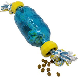 OurPets IQ Treat Double Bottle Treat Dispensing Rope Dog Toy, Large