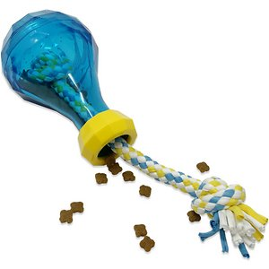 OurPets IQ Treat Vase Dog Treat Dispensing Rope Toy, Small