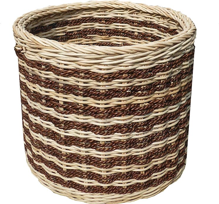 D Art Collection Abaca Stripe Dog Cat Toy Storage Basket Chewy Com