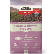 ACANA Singles Limited Ingredient Diet Lamb & Apple Recipe Grain-Free Dry Dog Food, 25-lb bag