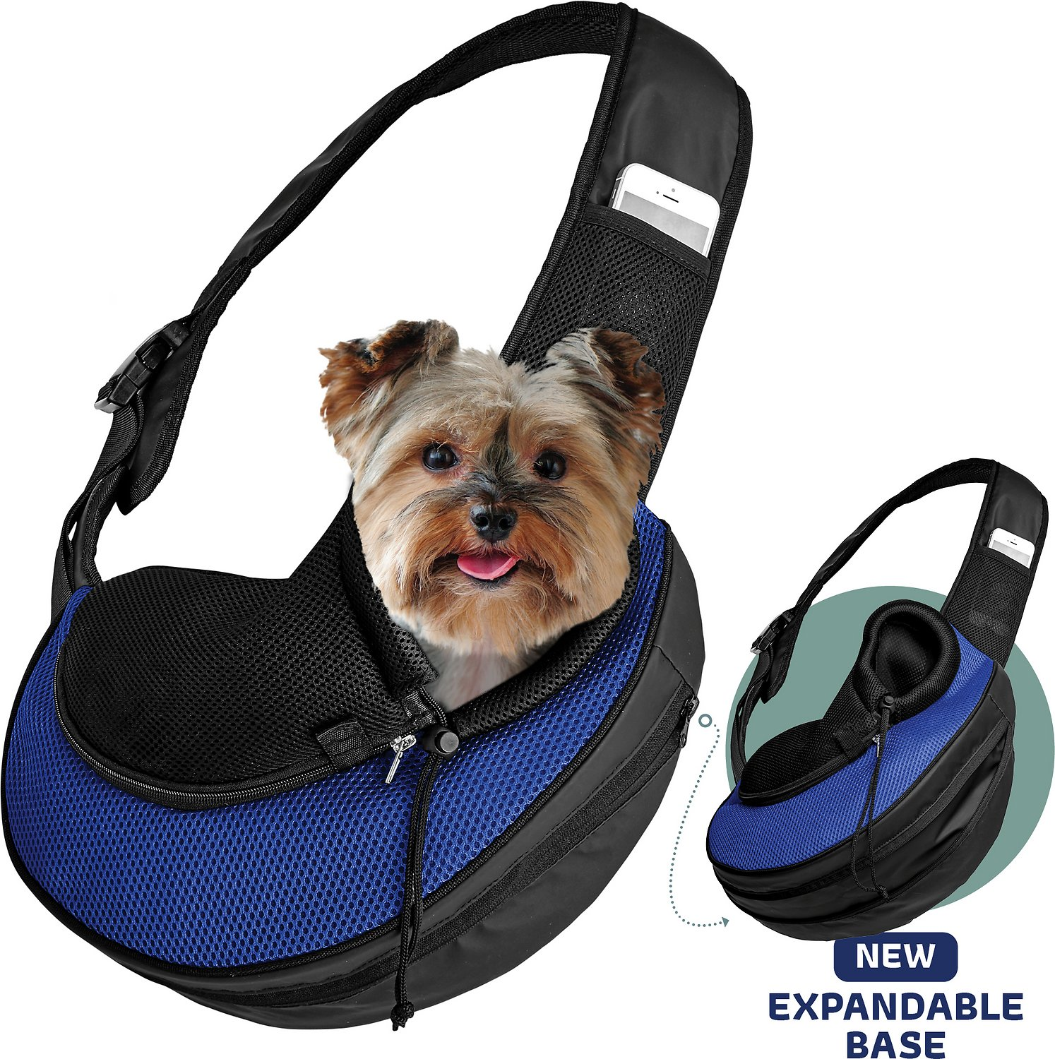 Collar clip add on to Pet sling carrier
