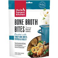 The Honest Kitchen Bone Broth Bites Roasted With Turkey Bone Broth, Pumpkin & Parsley Dog Treats, 8-oz bag