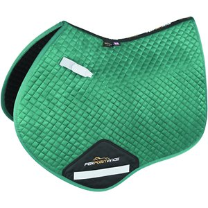 Shires Equestrian Products Performance Suede Jumping Horse Saddlecloth, Green