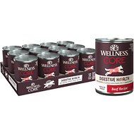Wellness CORE Digestive Health Beef Recipe Grain-Free Wet Dog Food, 13-oz, case of 12