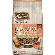 Merrick Healthy Grains Raw-Coated Kibble Real Salmon + Brown Rice Recipe Freeze-Dried Dry Dog Food