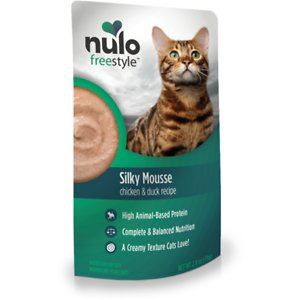 Nulo Freestyle Silky Mousse Chicken & Duck Recipe Grain-Free Wet Cat Food, 2.8-oz, case of 24