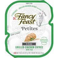 Fancy Feast Petites In Gravy Grilled Chicken Entree Wet Cat Food, 2.8-oz, case of 12