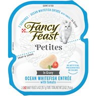 Fancy Feast Petites In Gravy Ocean Whitefish Entree Grain-Free Wet Cat Food, 2.8-oz, case of 12