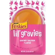 Friskies Lil' Gravies Savory Salmon Flavor Cat Food Complement, 1.55-oz, case of 16