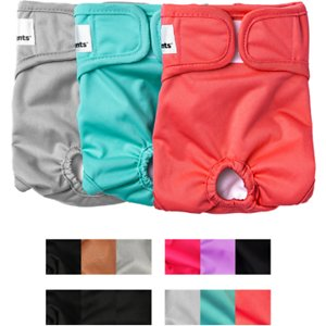 Pet Parents Washable Male & Female Dog Diapers, Southern Belle, Medium: 14 to 20-in waist, 3 count