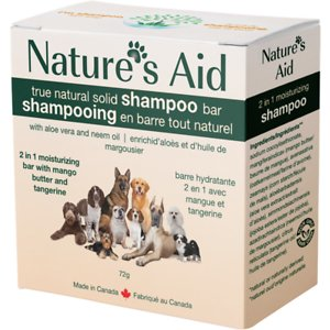 Nature's Aid True Natural Solid 2 in 1 Mango Butter & Tangerine Dog Shampoo Bar