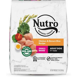 Nutro Natural Choice Small Breed Adult Chicken & Brown Rice Recipe Dry Dog Food, 13-lb bag