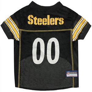 Pets First NFL Pittsburgh Steelers Mesh Dog Jersey, XX-Large