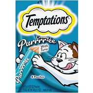 Temptations Creamy Purrrr-ée with Tuna Lickable Cat Treats, 1.7-oz pouch, 4 count