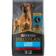 Purina Pro Plan Specialized Beef & Rice Formula High Protein Large Breed Dry Dog Food, 18-lb bag