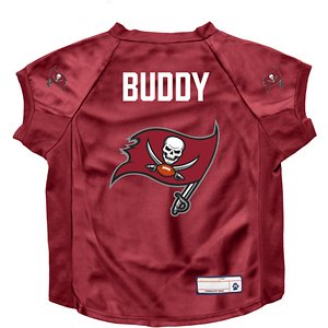 Littlearth NFL Personalized Stretch Dog & Cat Jersey, Tampa Bay Buccaneers, Big Dog