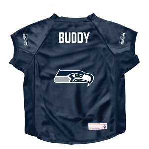 Littlearth NFL Personalized Stretch Dog & Cat Jersey, Seattle Seahawks, Big Dog