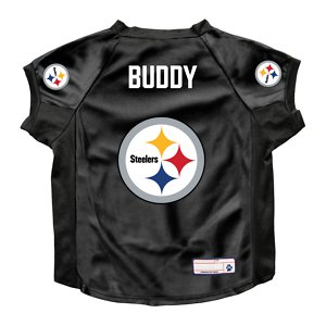 Littlearth NFL Personalized Stretch Dog & Cat Jersey, Pittsburgh Steelers, Big Dog