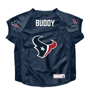 Littlearth NFL Personalized Stretch Dog & Cat Jersey, Houston Texans, Big Dog