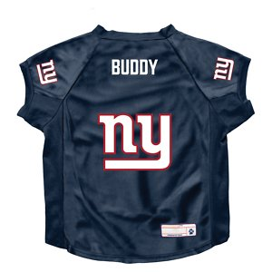 Littlearth NFL Personalized Stretch Dog & Cat Jersey, New York Giants, Big Dog
