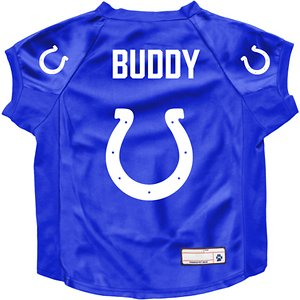 Littlearth NFL Personalized Stretch Dog & Cat Jersey, Indianapolis Colts, Big Dog