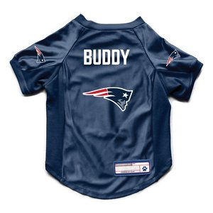 Littlearth NFL Personalized Stretch Dog & Cat Jersey, New England Patriots, Medium